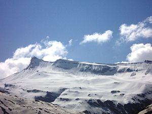 A panoramic view of distant Himalayan peaks fr...