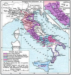 Map of Italy in 1050