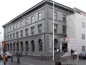 Former headquarters of Landsbanki in Reykjavik...