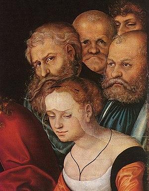 Lucas Cranach d. Ä. - Christ and the Adulteres...