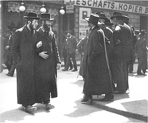 Orthodox Jews from Galicia at the Karmeliterpl...