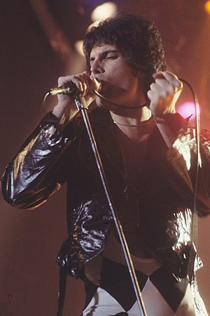 Freddie Mercury in New Haven, CT at a WPLR Sho...
