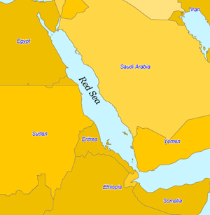 Location of the Red Sea