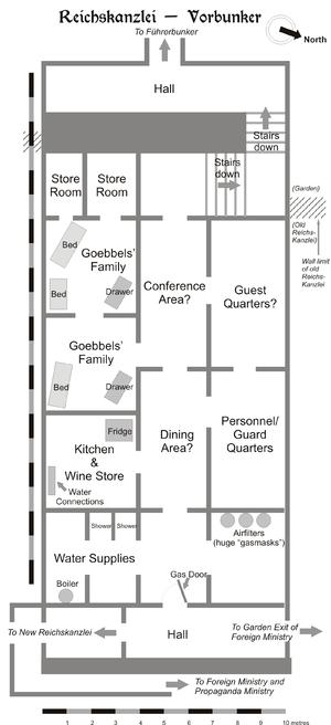Hans Freighter Diagram Rekonstruktion Af Grundplanen Af F 248 Rerbunkeren Engelsk Tekst