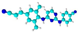 Rilpivirine molecule (3D)
