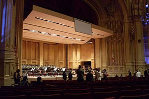 English: Stage from main floor. Copley Symphon...
