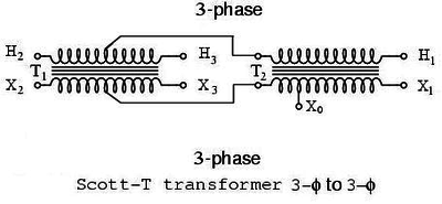 marcus 3 phase transformer wiring diagram fire pump scott t wikipedia connection f to