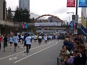 English: 2007 Vancouver Sun Run participants n...