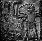 Grabado del ejército asirio durante el reinado de Tiglath-Pileser II