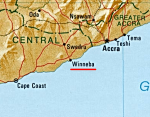 Location of Winneba