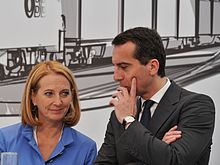 Kern with Transport Minister Doris Bures at the ground-breaking ceremony of the Semmering-Basistunnel (de)