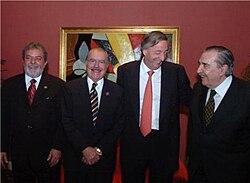 Iguaçú, 30 de novembro de 2005, 20 anos de Mercosul: Lula, Sarney, Kirchner, Alfonsî