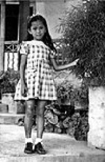 Aung San Suu Kyi at the age of 6