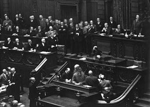 Reichstag on September 12, 1932 - Chancellor v...