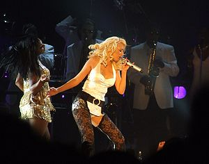 "English: Christina Aguilera sings ""Can't ..."