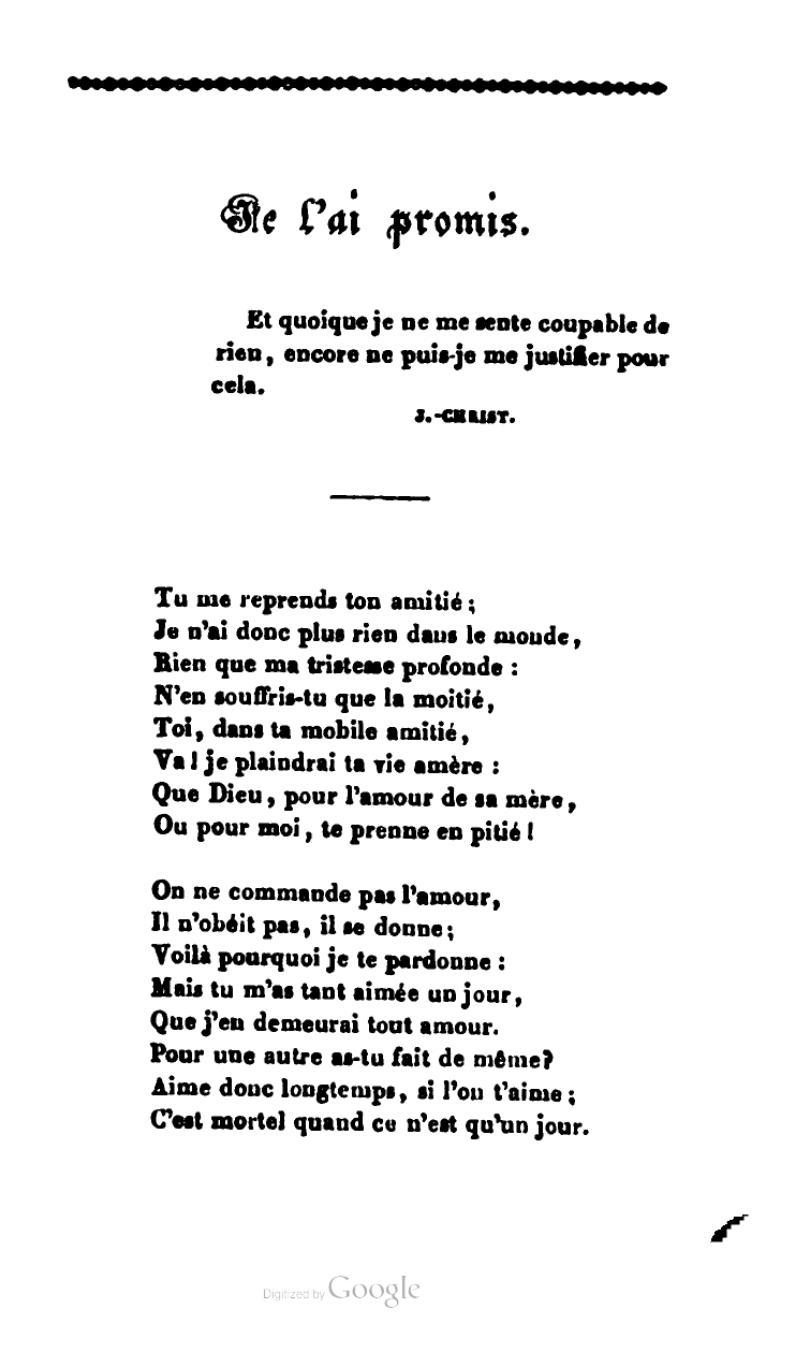 On Se L Ai Promis : promis, Page:Desbordes-Valmore, Pauvres, Fleurs,, 1839.djvu/55, Wikisource