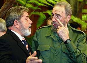 Português: O líder cubano Fidel Castro.