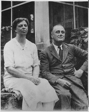 Franklin D. Roosevelt and Eleanor Roosevelt in...