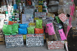 English: Herbal remedies for sale in San Juan ...