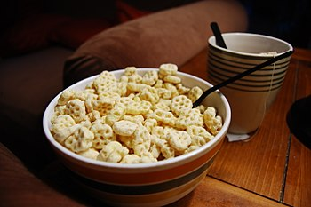 Bowl of Honeycomb cereal