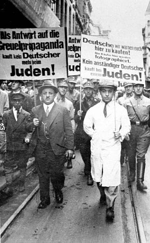 During the boycot of Jews on april 1, 1933 in ...