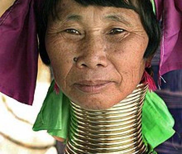Kayan Woman With Neck Rings Jpg