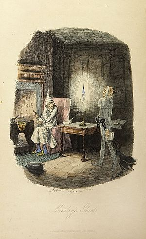 Marley's ghost, from Charles Dickens: A Christ...