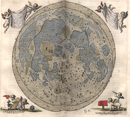 Moon by Johannes hevelius 1645