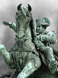 Equestrian statue of Napoleon at Cherbourg