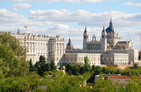 Royal Palace and Santa María la Real de La Almudena, Spain