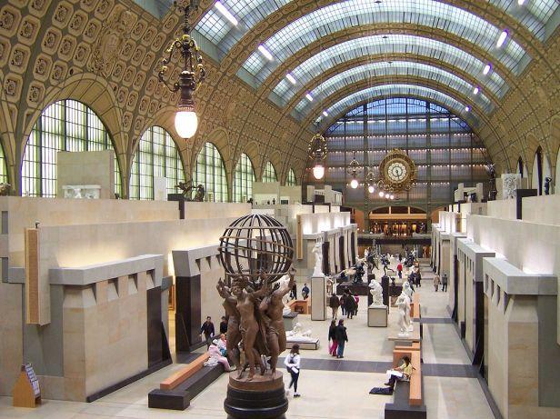 Paris Musée d'Orsay Grande nef centrale 02a Allée des sculptures
