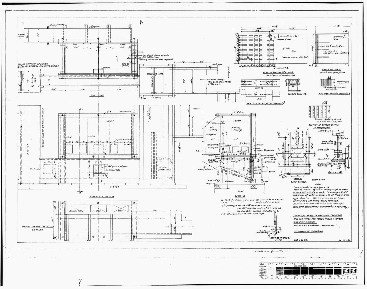 File Photocopy Of Original Construction Drawing Dated 31