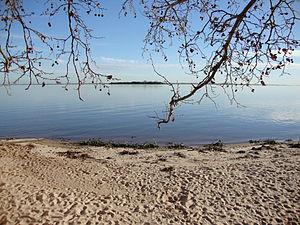 Playa Seré, Carmelo, Uruguay. Costa del Río de...