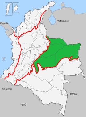 Mapa de Orinoquía