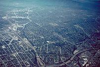 Aerial view of San José, California, USA. The ...