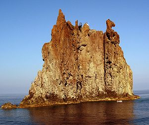 The Strombolicchio near Stromboli Island in So...