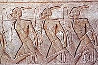 Prisioneros nubios. Templo de Abu Simbel.