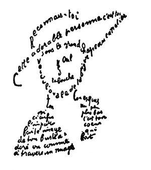 Česky: Caligram Apollinaira Français : Calligr...