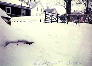 The Great Blizzard of 1978; Photo taken of bac...