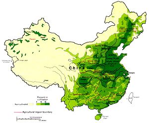 Maps of China, Agricultural Regions, Boundary ...