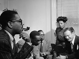 English: Dizzy Gillespie, Tadd Dameron, Hank J...