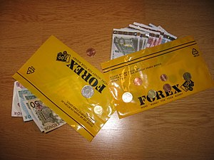 Money in a bag from the nordic foreign exchang...