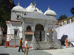 English: Gangotri temple in Uttarakhand, India...