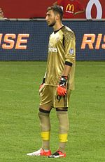 Donnarumma Playing For Milan During The   Pre Season