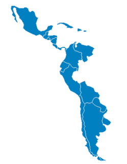 Hispanic America map