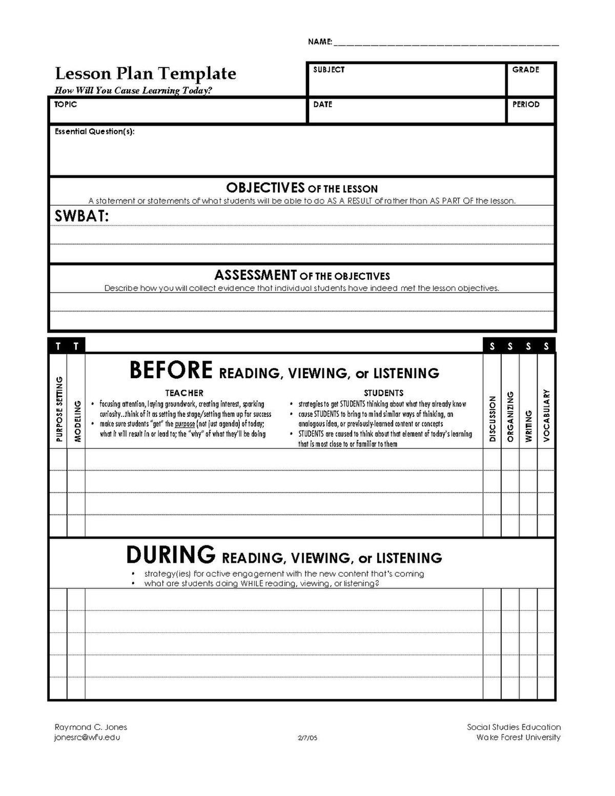 A business plan is essential to a small business's strategy. File Lesson Plan Template Pdf Wikimedia Commons