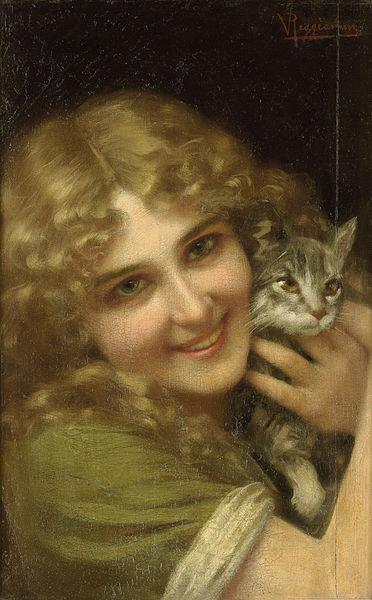 File:Reggianini Frau mit Kätzchen.jpg
