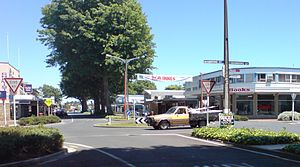 A look down one of the main streets of Tokoroa...