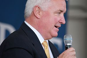 Tom Corbett at the McCain rally at the Greater...
