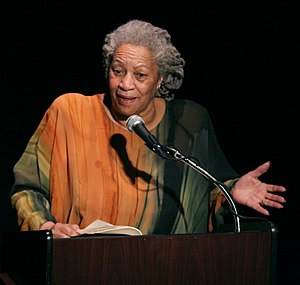 "English: Toni Morrison speaking at ""A Tri..."